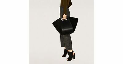 NWT MULTIPOSITION BLACK  LEATHER  AND SUEDE BUCKET BAG REF 4005/204 RARE for sale  Shipping to Nigeria