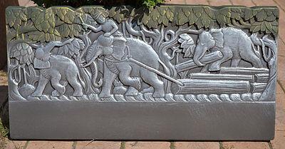 Abs Plastic Cement - Edge Stone Mold Elephant Border Mould ABS Plastic Concrete Cement FENCE #BR13
