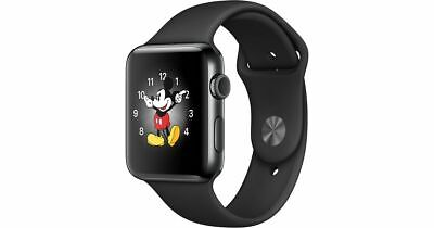 Apple Watch Series 2, 38mm Space Black Stainless Steel Case with Sport Band