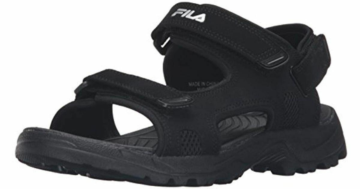 Fila Mens transitions sandal black