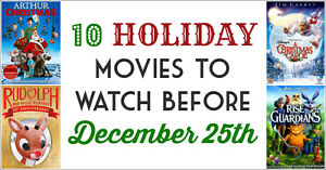 10 Holiday Movies to Watch Before December 25th