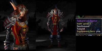 ** TABARD OF THE FLAME - RED ** WORLD OF WARCRAFT LOOT TCG Landro Longshot READ!