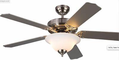 Monte Carlo Fan 5HM52BSND Brushed Steel  Homeowner Max Plus Indoor Ceiling Fan Monte Carlo Glass Fan