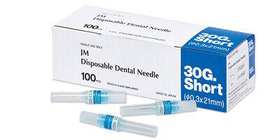 J Morita Disposable Dental Needles 30 Ga Short W Plastic Hub 100box Fda