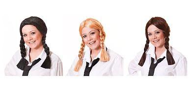 # Perücke Schulmädchen Alle Farben Dorothy Zöpfe Haarzöpfe Halloween - Dorothy Kostüm Haar