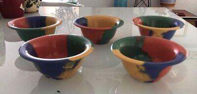 5 Multi-Color  Melamine Cereal/Soup Bowls NSF