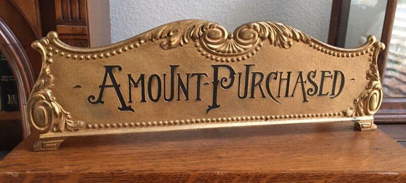 RARE Antique Cash Register Top