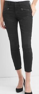 BRAND NEW WITH TAGS WOMEN'S GAP TRUE SKINNY MOTO JEANS, SIZE 27
