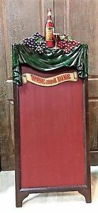 'Wine and Dine' Chalk Board.  5 feet tall