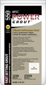 TEC Power Grout -  Tile No sealer required - ULTRA BRIGHT WHITE