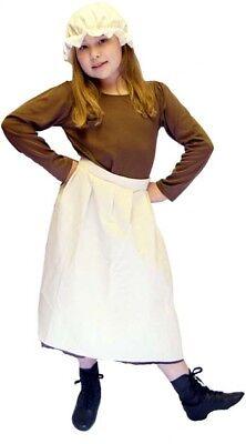 Viktorianisch / Edwardianisch Bettler Mädchen Kleid, Schürze & - Viktorianischer Bettler Kostüm