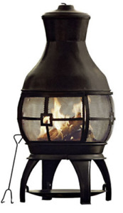 Wood Burning Chimnea Outdoor Fireplace - GREAT DEAL