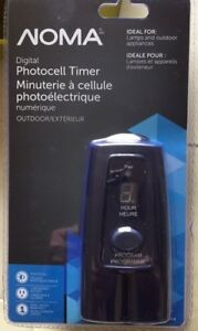 NOMA DIGITAL PHOTOCELL OUTDOOR TIMER