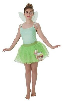 Damen Teen Disney Tinkerbell Fee Tütü & Wings Kostüm Kleid Outfit Satz (Fee Kostüme Teen)