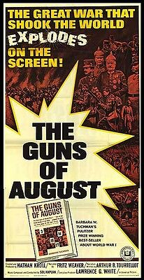 THE GUNS OF AUGUST original large WW1 movie poster FIELDMARSCHALL VON HINDENBURG