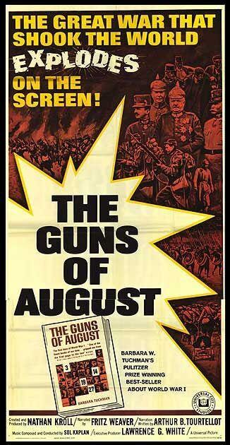 THE GUNS OF AUGUST original large WW1 movie poster FIELDMARSCHALL VON HINDENBURG