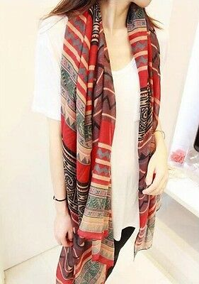 Womens Fashion Soft Oversized Wrap Shawl Scarf Cotton Voile Stole Style Shaw 38R