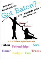 Join our Fall/Winter Baton Twirling Session!
