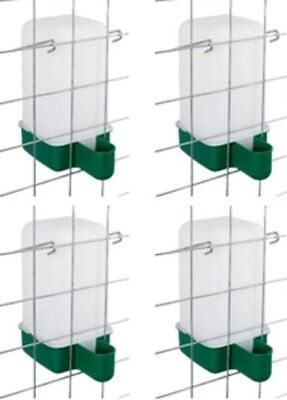 4 x 1 L  Cage Drinker - Chicken/Quail/Pigeon/Chick/Rabbit Drinker with brackets