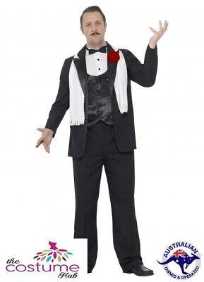 Adult Mens Plus Size Gangster Costume 1920's Mafia Godfather Smiffys Fancy Dress ()