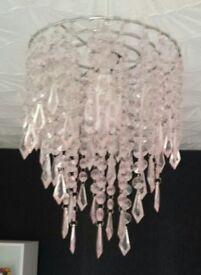 Girls pink bedroom lampshade