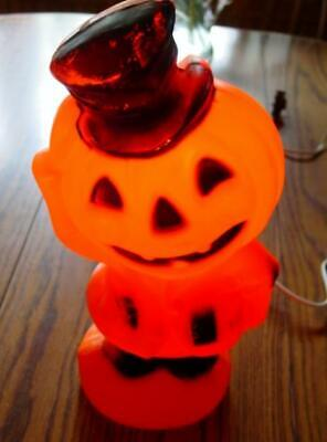 Vtg Halloween Blow Mold Empire Scarecrow Pumpkin Head Jack O Lantern Light MCM