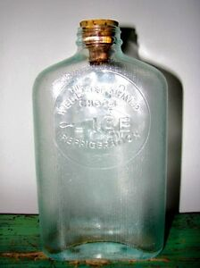 ANTIQUE HEMINGRAY Ice Box Refrigerator WATER BOTTLE, 1930s