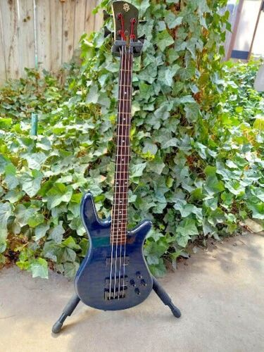 Spector Bass with EMG HP Pickups - Dark Blue Quilt -Includes Spector Hard Case