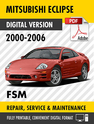2000 - 2006 MITSUBISHI ECLIPSE / SPYDER FACTORY SERVICE REPAIR MANUAL / WORKSHOP