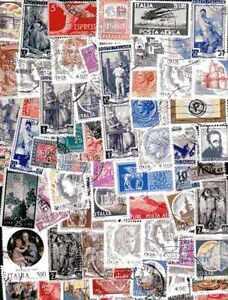 """Italie - Italy 1000 timbres différents - France - Commentaires du vendeur : """"collection de timbres différents"""" - France"""