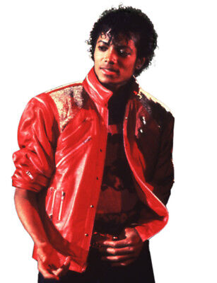 MJ Michael Jackson Beat It Leather Jacket Red - Michael Jackson Red