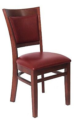 Lot Of 80 Mahogany Finish Vinyl Back Wooden Restaurant Chair Vinyl Seat