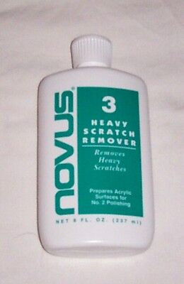 Novus #3 Heavy Scratch Remover Polish Cleaner 8 Oz Bottle New! Free Shipping!