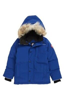 CANADA GOOSE YOUTH EAKIN PARKA SIZE M PACIFIC BLUE