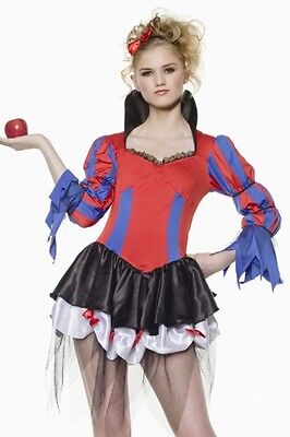 Bad Apple Snow White Costume LARGE 11-13 Sexy Snow White Costume - STM 10266 NWT