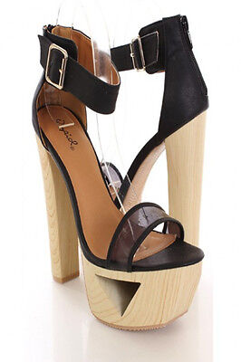 Womens Shoes High Heel Dress Open Toe pumps White Black Sale Clearance Pay less ()