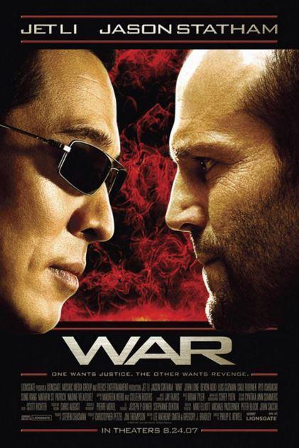 "War (Jet Li & Jason Statham) 27"" x 40"" Promotional Theatrical Movie Poster"