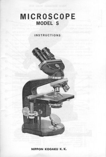 Nikon Microscope Model S, SBR Instruction Manual photocopy