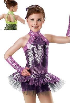 Electric Avenue Purple Jazz Tap Dance Baton Pageant Wear Competition Costume
