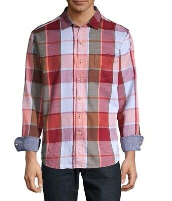 Tommy Bahama $135 Heredia Plaid Yarn Dyed Flannel Long Sleeve Shirt L Nwt Yarn Dyed Plaid Shirt