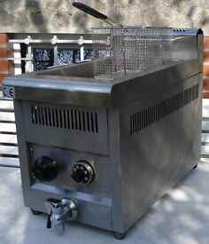 Catering Automatic Heavy Duty Deep Fat Fryer Gas Lpg Chips Fish Chicken Cooker