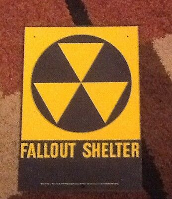 Fallout Shelter Sign Original 1960S  10 X 14   Loc Number 2