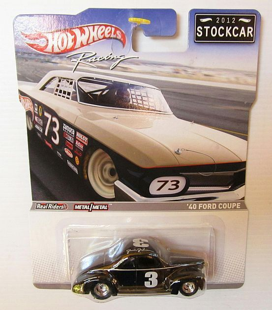 HOTWHEELS 2012 Vintage Stock Car Racing '40 Ford Coupe Black Stockcar