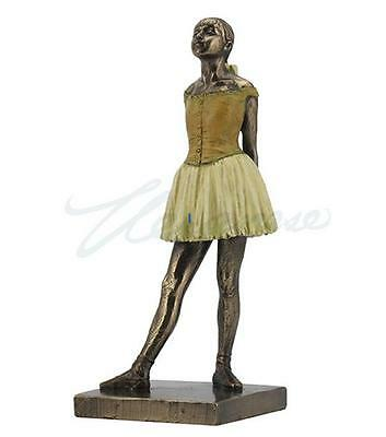 Degas Little Dancer - Degas Little Dancer Fourteen Years Replica Bronze Color 7.5H 8802