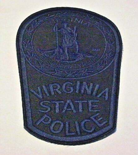 """VIRGINIA STATE POLICE ( SUBDUED BLUE )  VA 6 1/2"""" POLICE PATCH  FREE SHIPPING!!!"""
