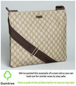 Gucci Canvas Messenger Bag -- Read the ad description before replying!!