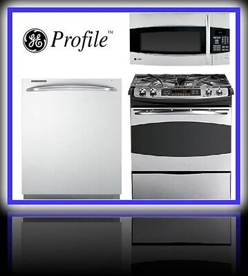 Buy cheap appliances - Ge Profile 3 Piece Appliance Package Gas Range, Microwave And  Dishwasher
