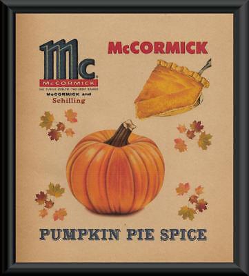 McCormick Pumpkin Pie Spice Advertisement Reprint On 70 Year Old Paper *P162 - Advertising Halloween