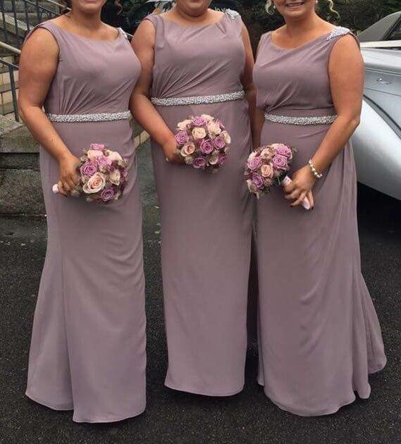 3 X True Bride Bridesmaid Dresses In Fino Lavender Formal Gala Wedding