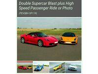 virgin experience days double supercar blast